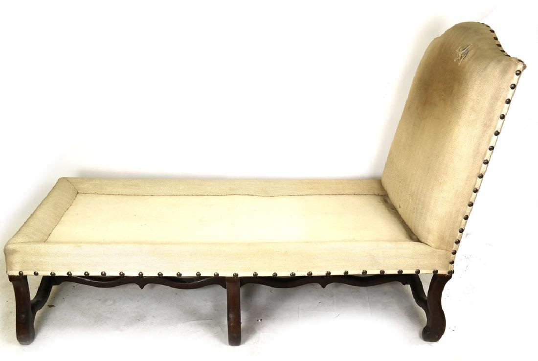 Antique Continental Walnut Chaise