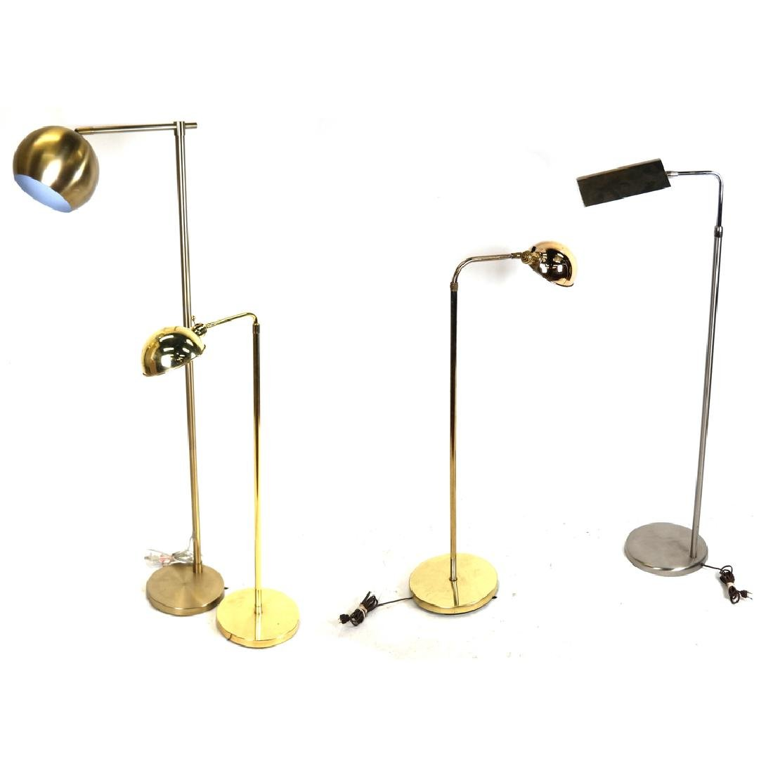 Four Contemporary Floor Lamps