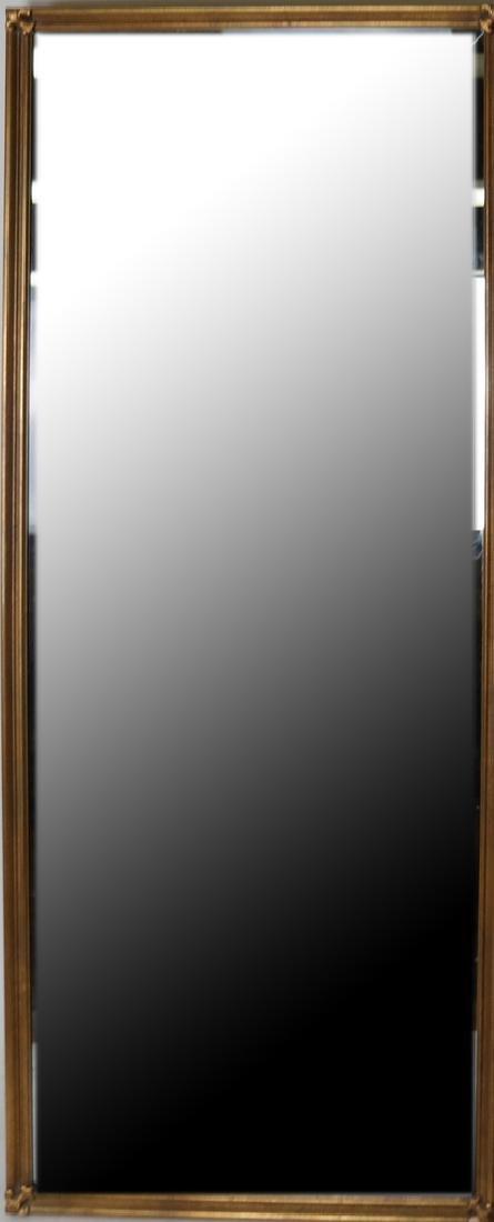 Contemporary Gilt Beveled Glass Mirror