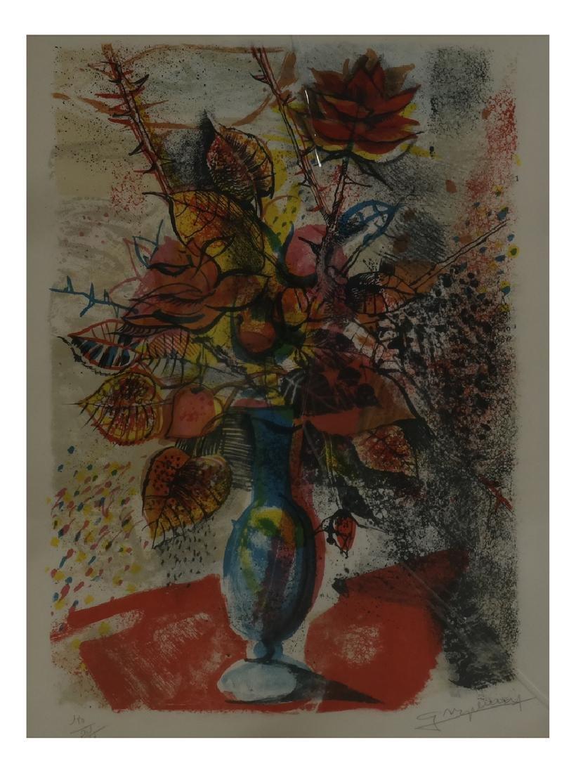 Claude Grosperrin, Floral Still Life - Lithograph