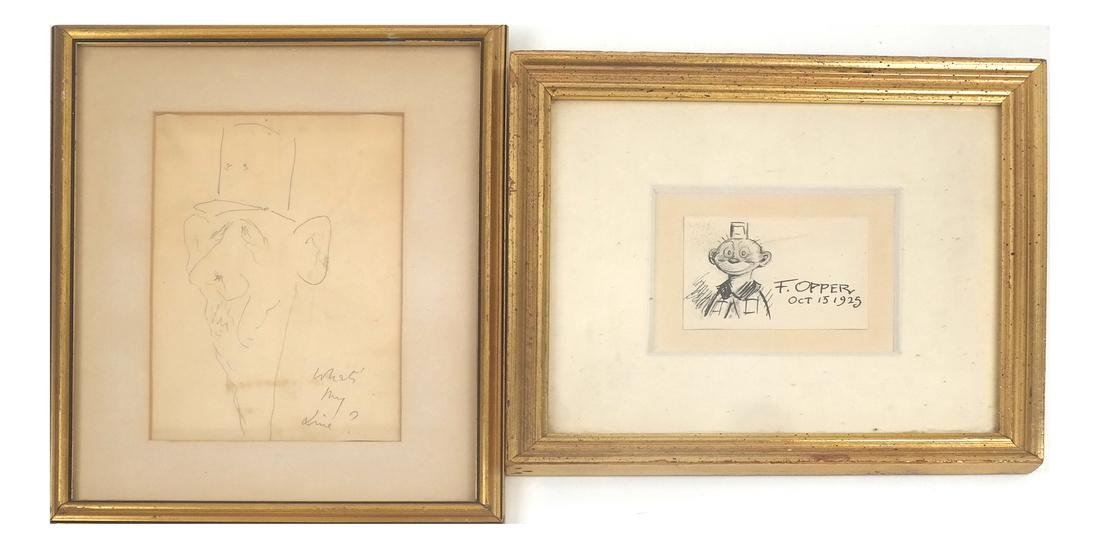 Two Amer. Illustrations - Frederick Opper and Unsigned