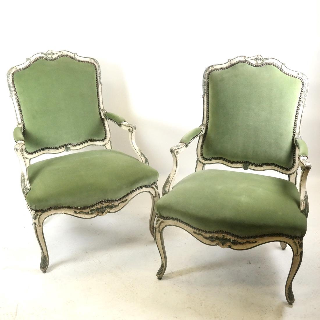 Pair French Provincial Fauteuils