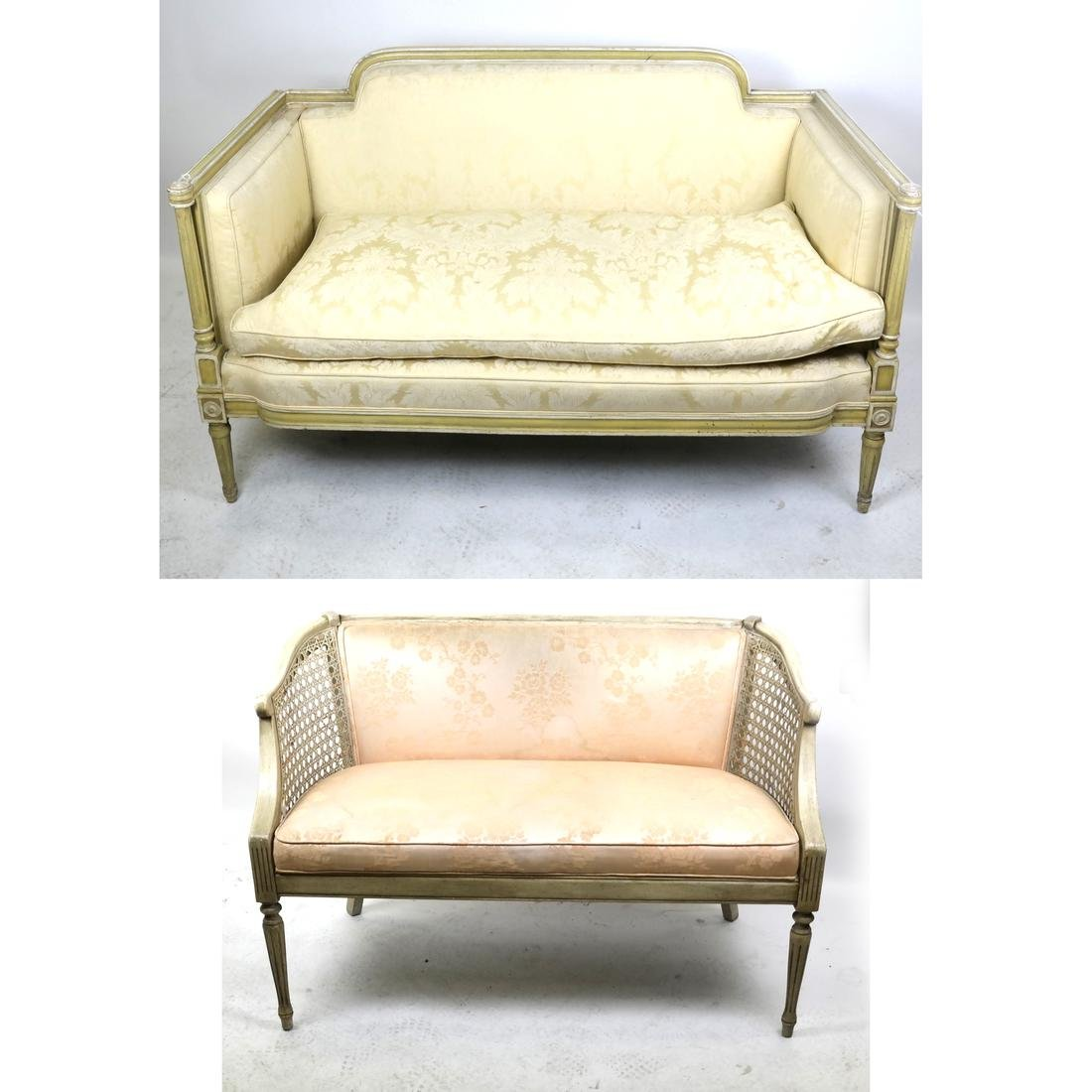 Two Louis XVI-Style Upholstered Settees
