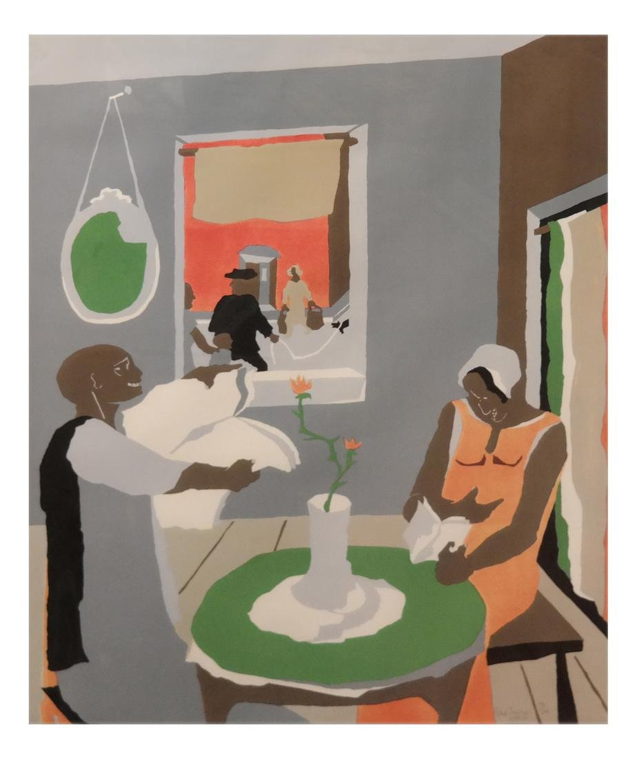 "Jacob Lawrence (American 1917-2000) ""Aspirations"""