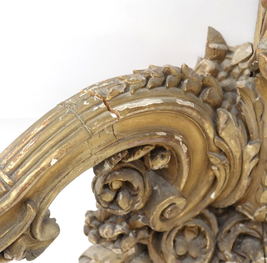 Ornate French Gilt Wood Wall Console - 2