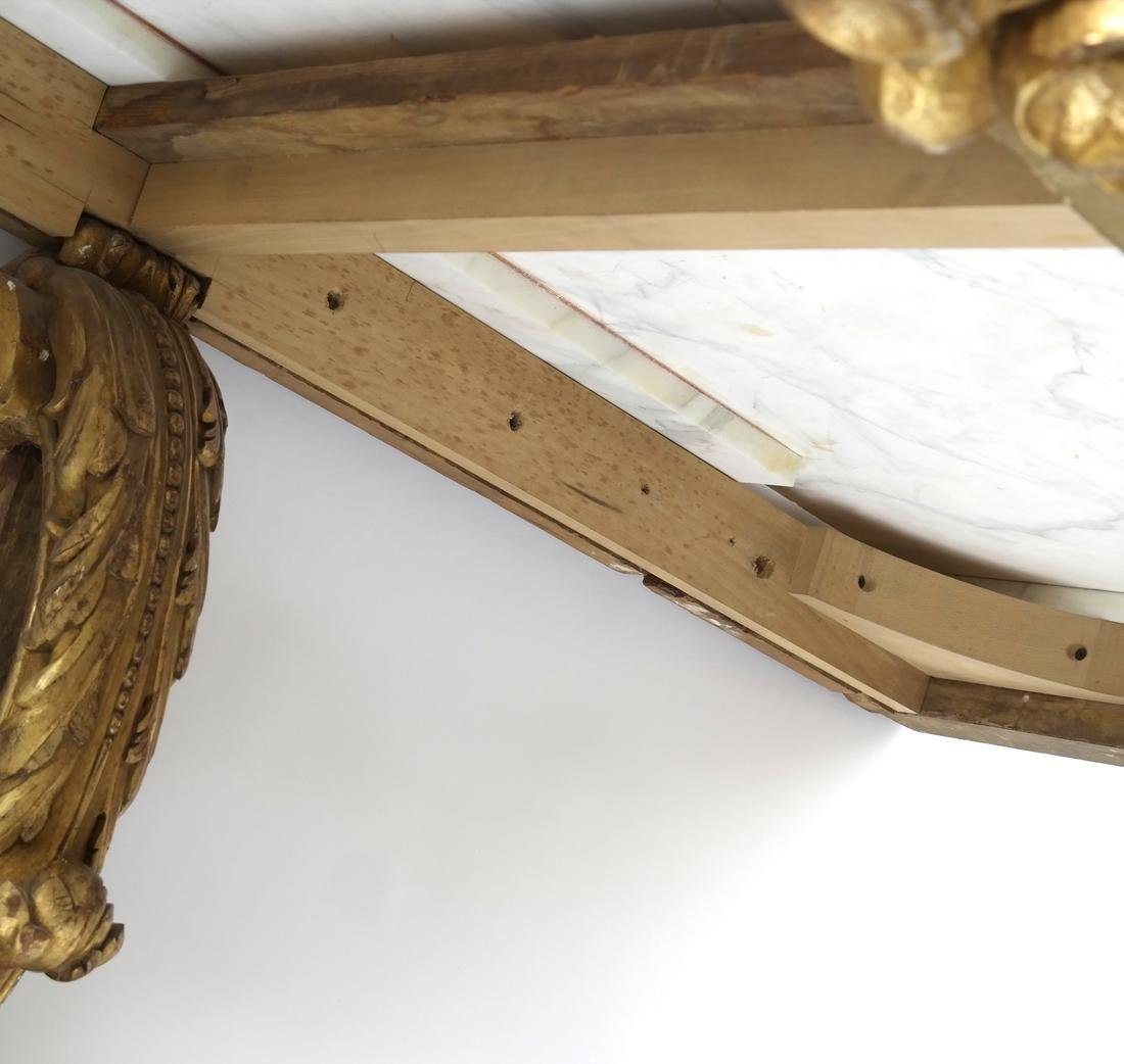 Ornate French Gilt Wood Wall Console - 6