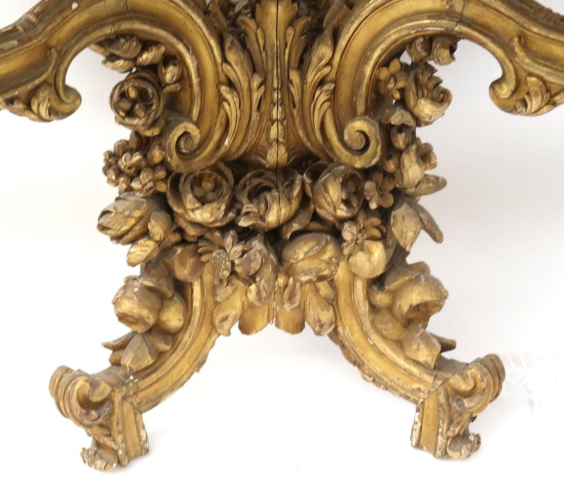 Ornate French Gilt Wood Wall Console - 7