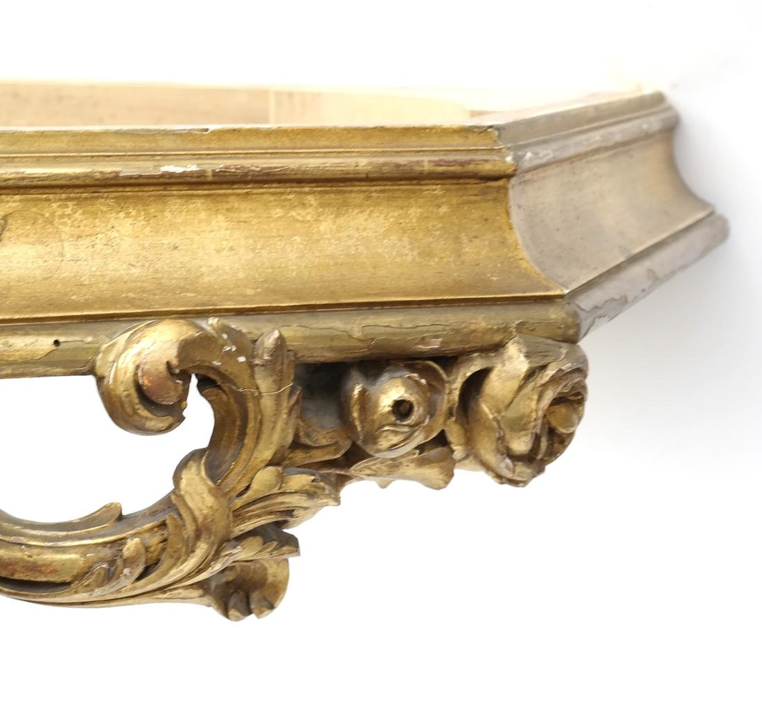 Ornate French Gilt Wood Wall Console - 8