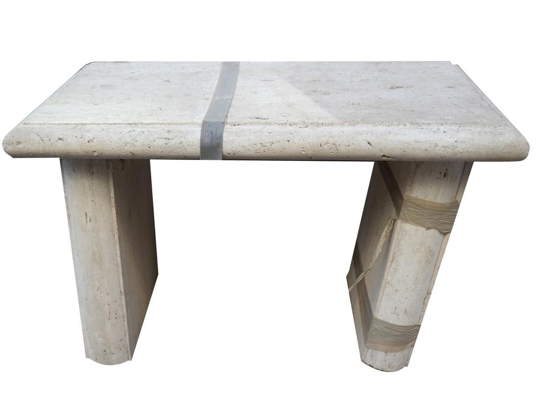 Modern Travertine Center Table