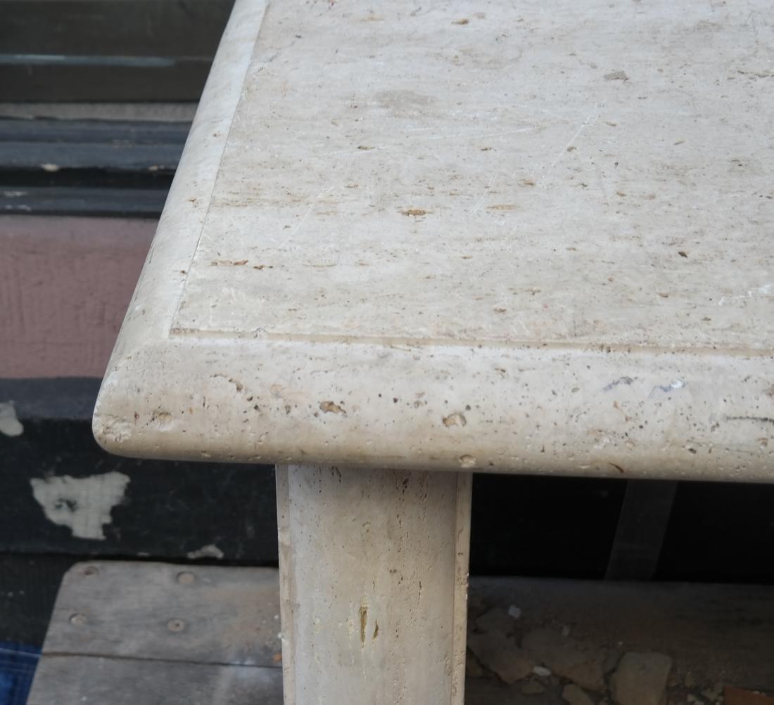 Modern Travertine Center Table - 2
