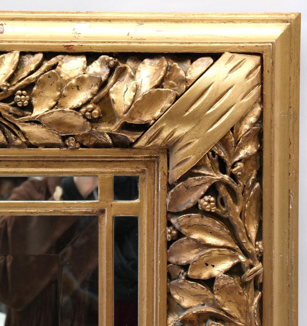 Ornate Gilt Wood Mirror - 5