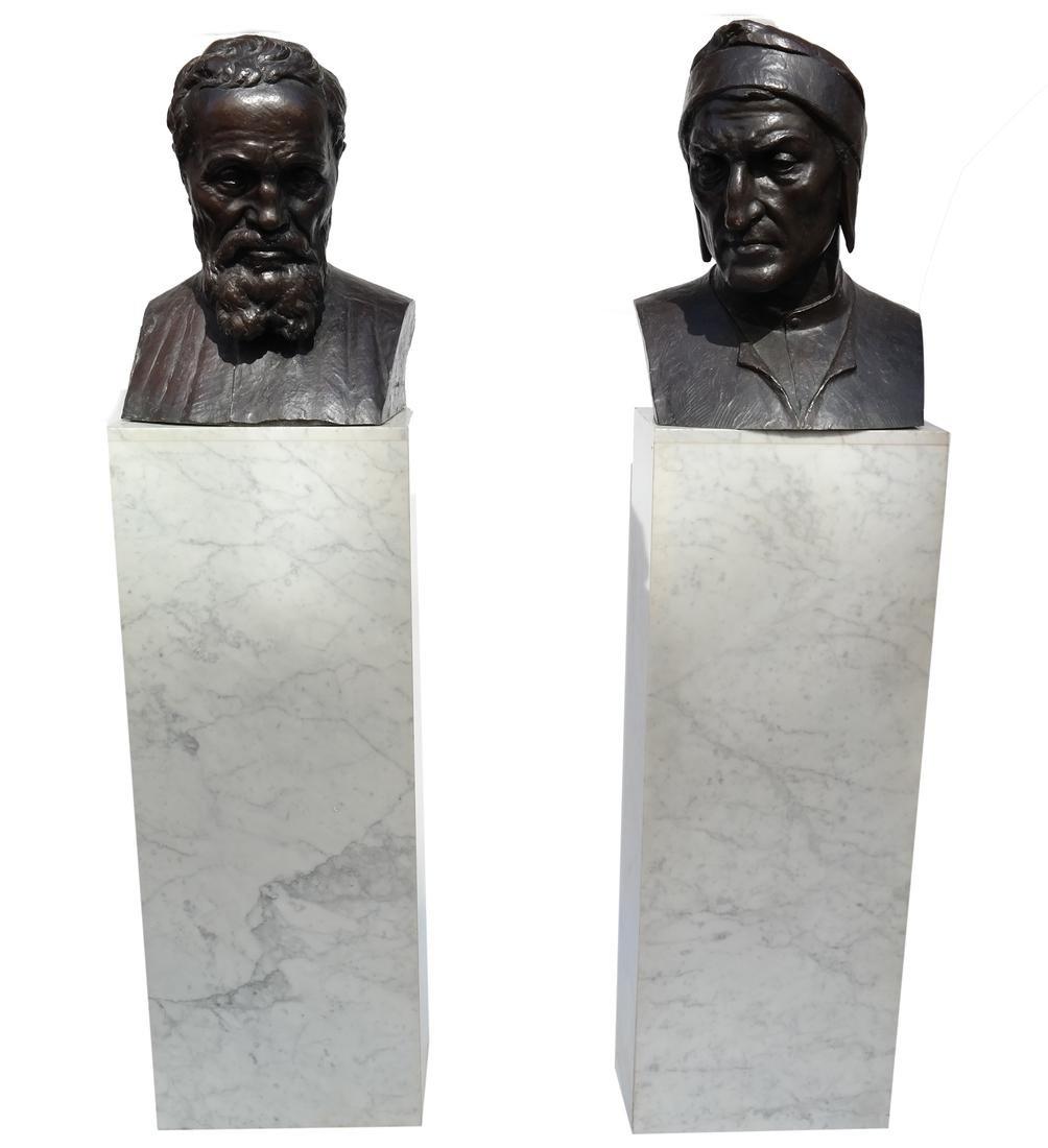 Valmore Gemignani: Dante and Michelangelo Bronzes