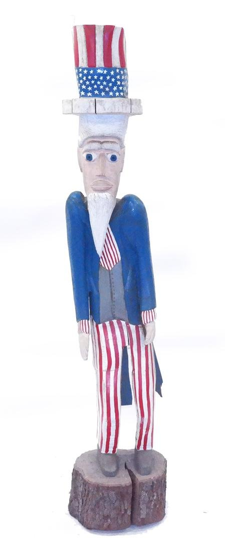 Decorated Sculpture of Uncle Sam