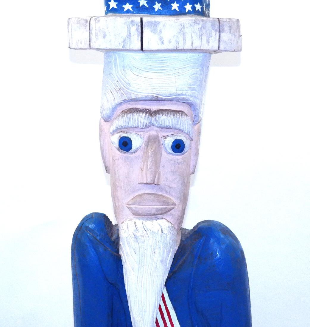 Decorated Sculpture of Uncle Sam - 2