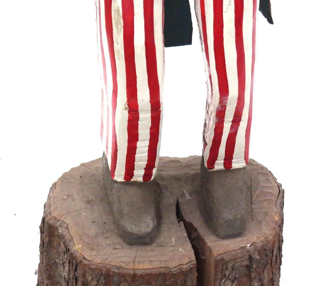 Decorated Sculpture of Uncle Sam - 3