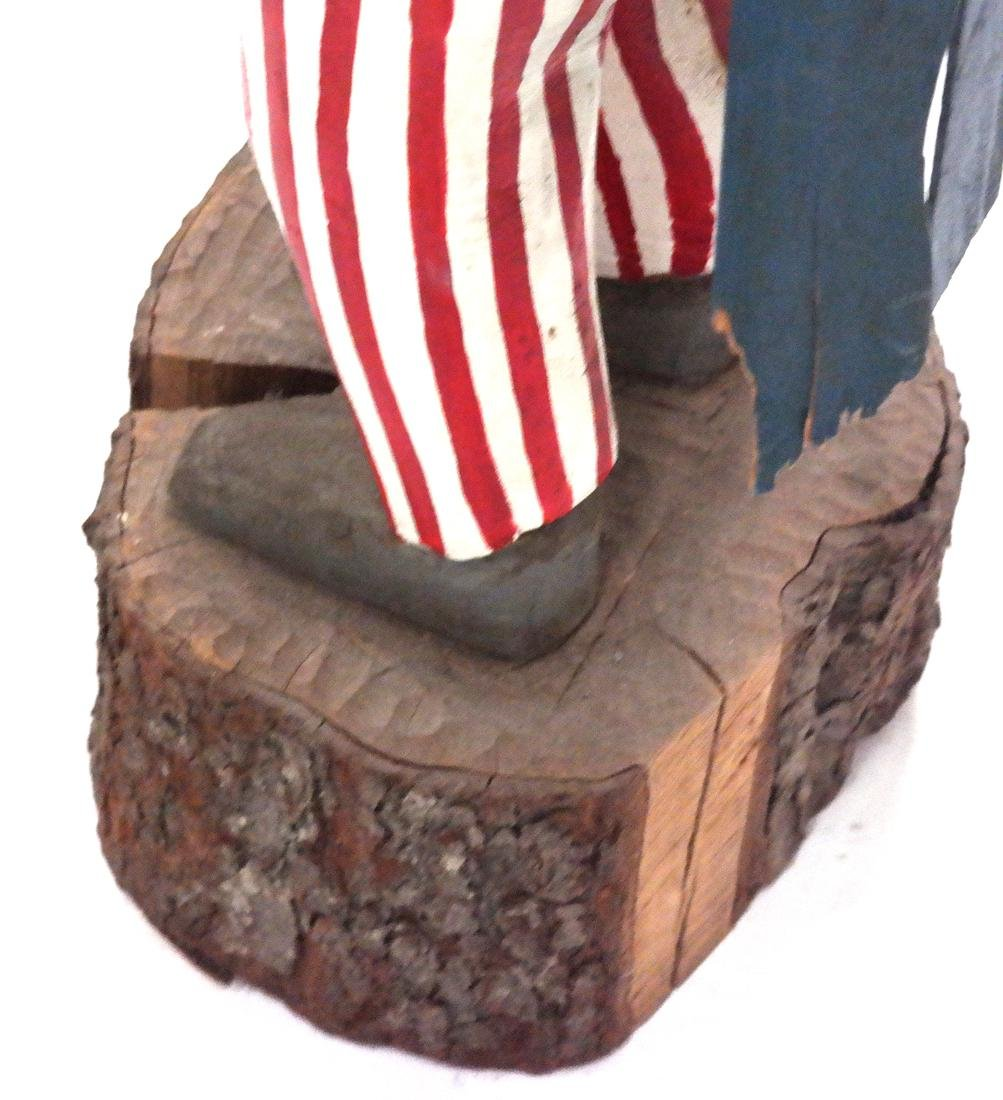Decorated Sculpture of Uncle Sam - 6