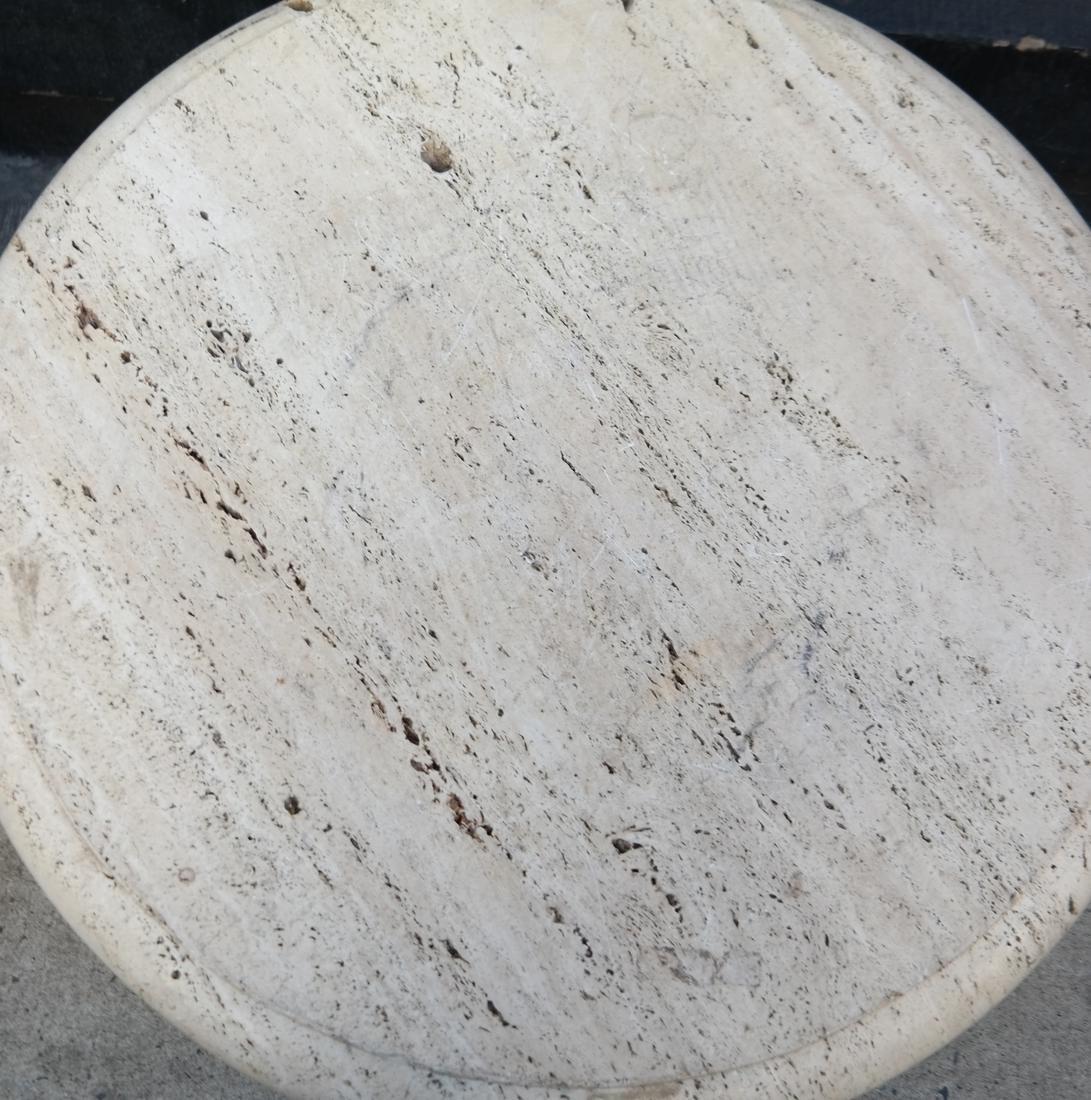 Travertine Circular Low Table - 2