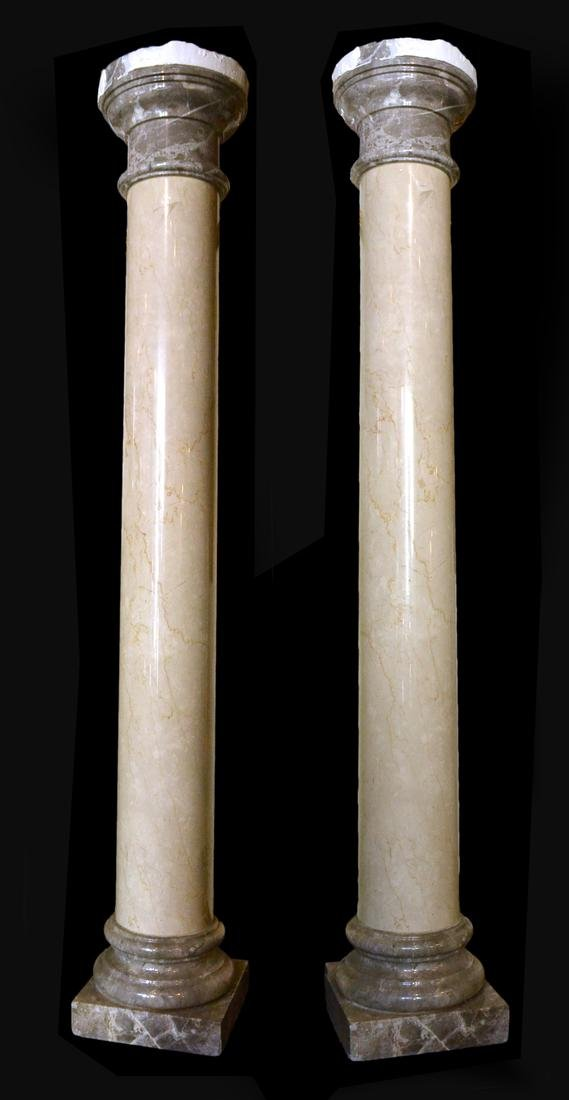 Pair of Polished Doric Columns