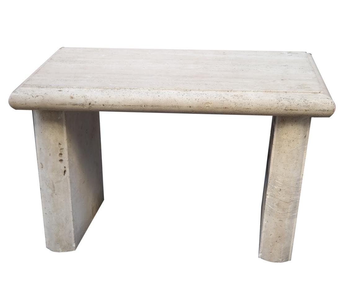 Rectangular Travertine Center Table