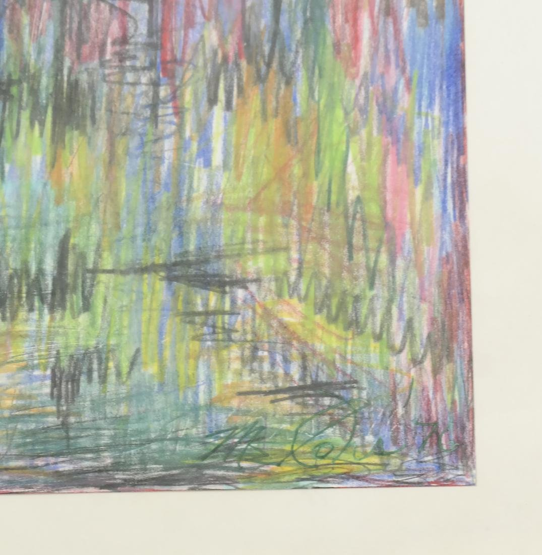 Abstract Landscape - Crayon and Ink - 3