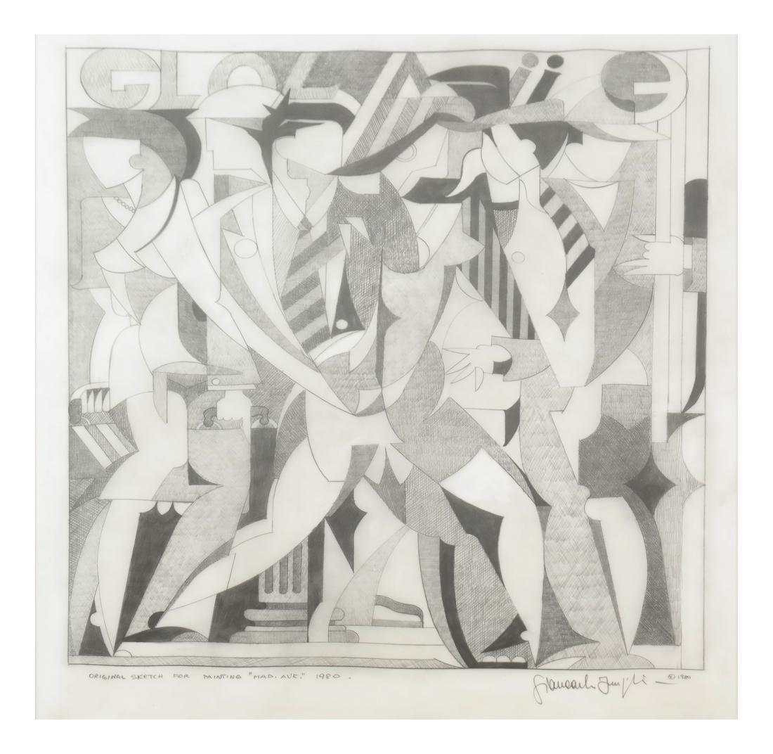 "Giancarlo Impiglia ""Madison Avenue""  - Original Sketch"