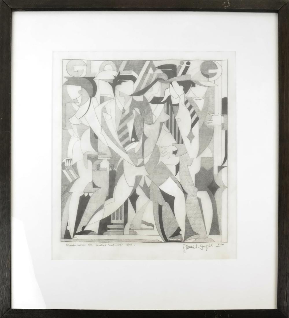 "Giancarlo Impiglia ""Madison Avenue""  - Original Sketch - 2"