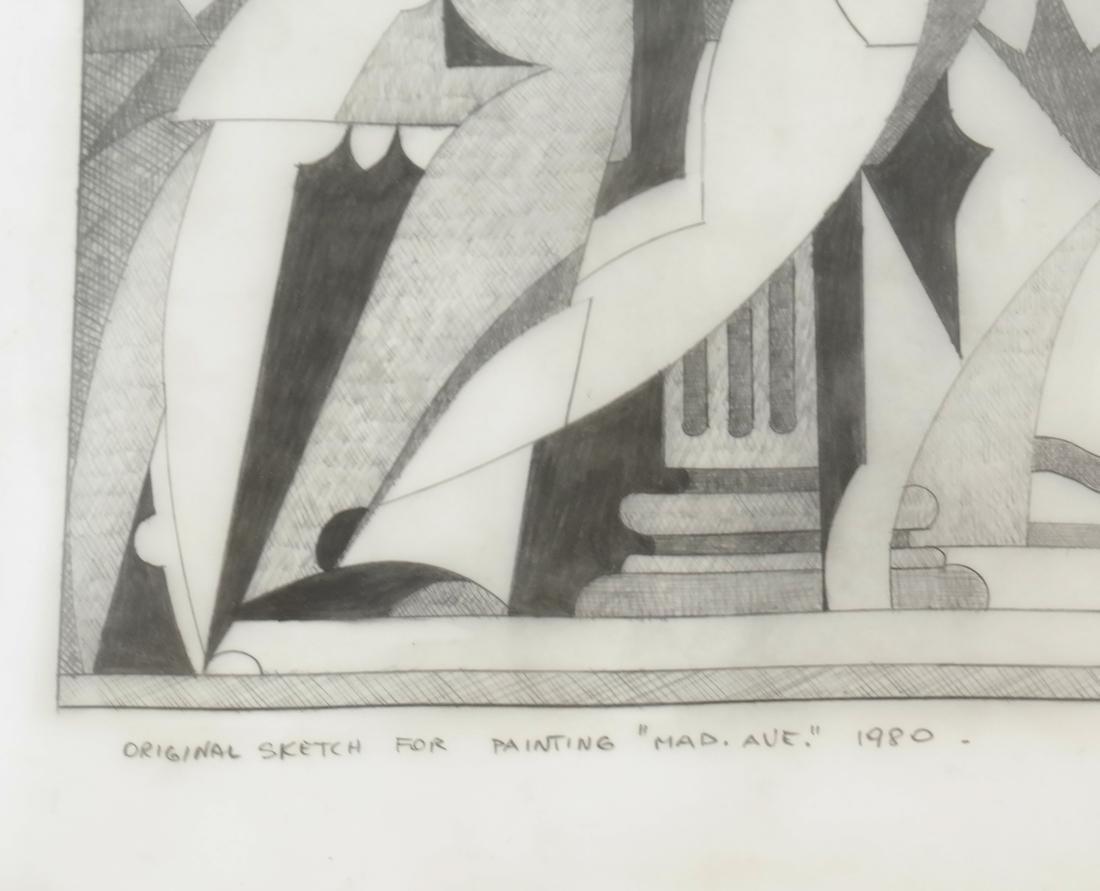 "Giancarlo Impiglia ""Madison Avenue""  - Original Sketch - 4"