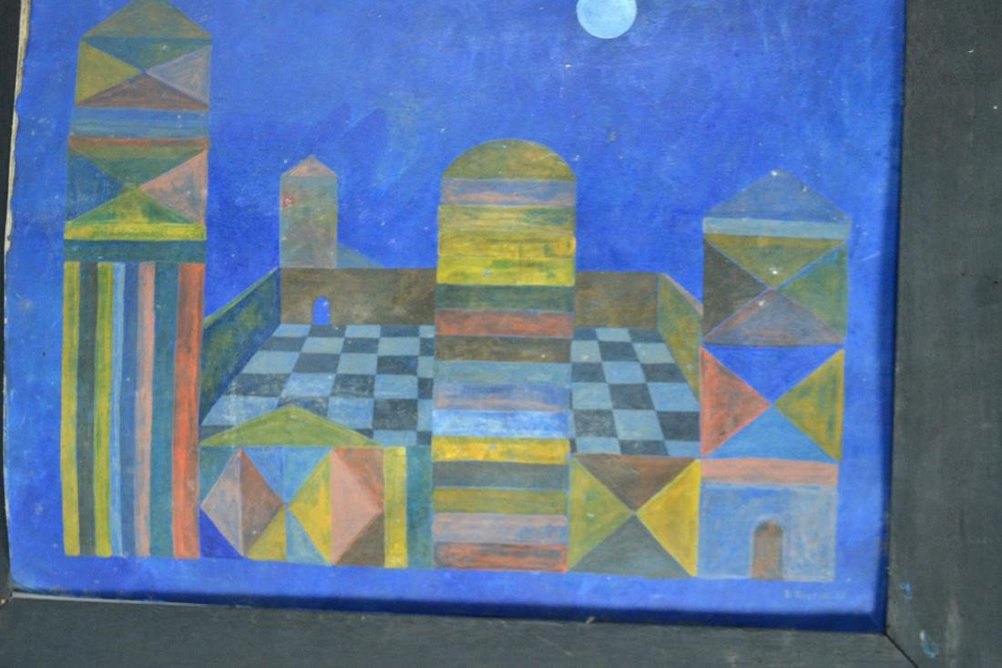 E. Rustia, '60s Geometric, Oil on Canvas - 2