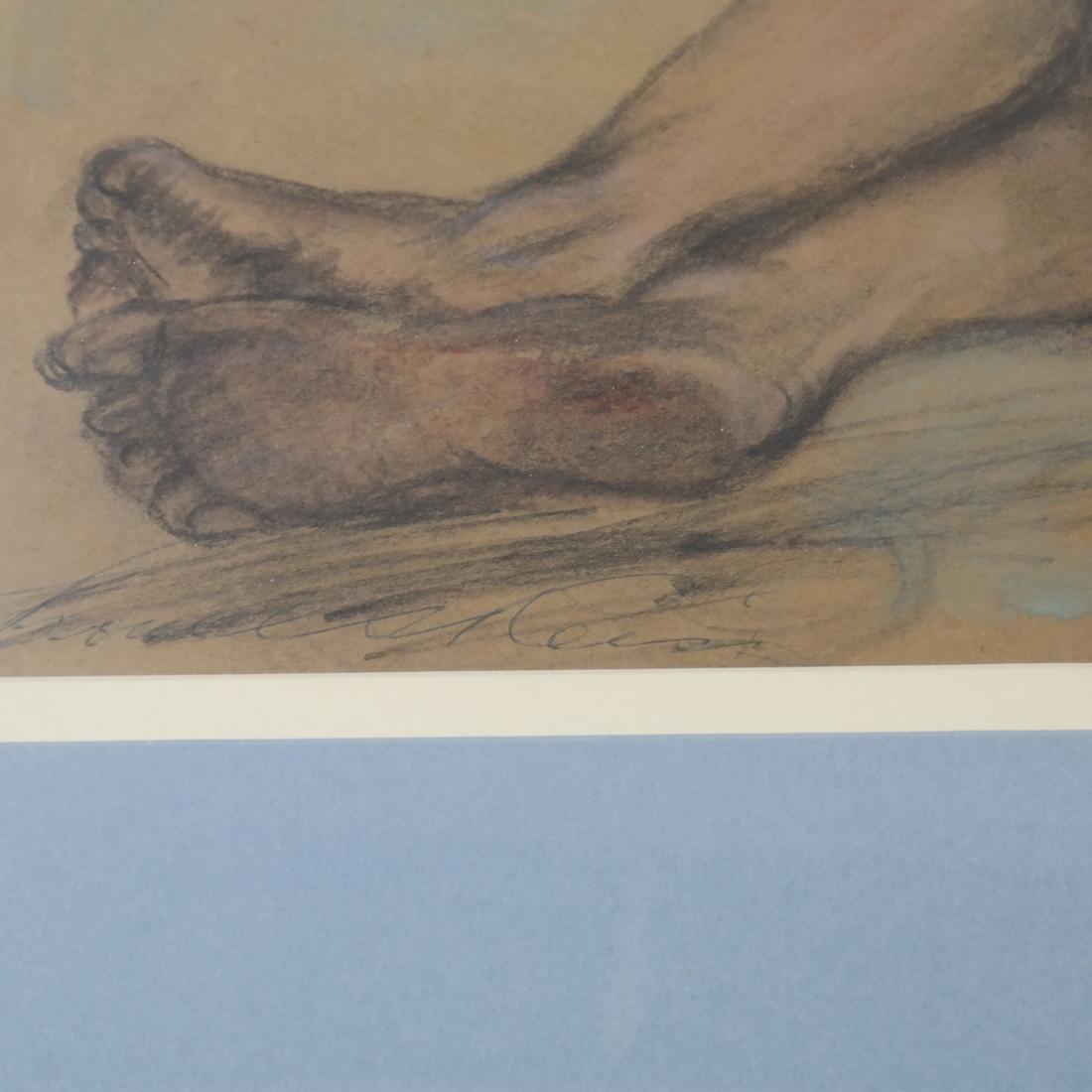 "Lionel Reiss ""Reclining Boy"" Drawing - 3"
