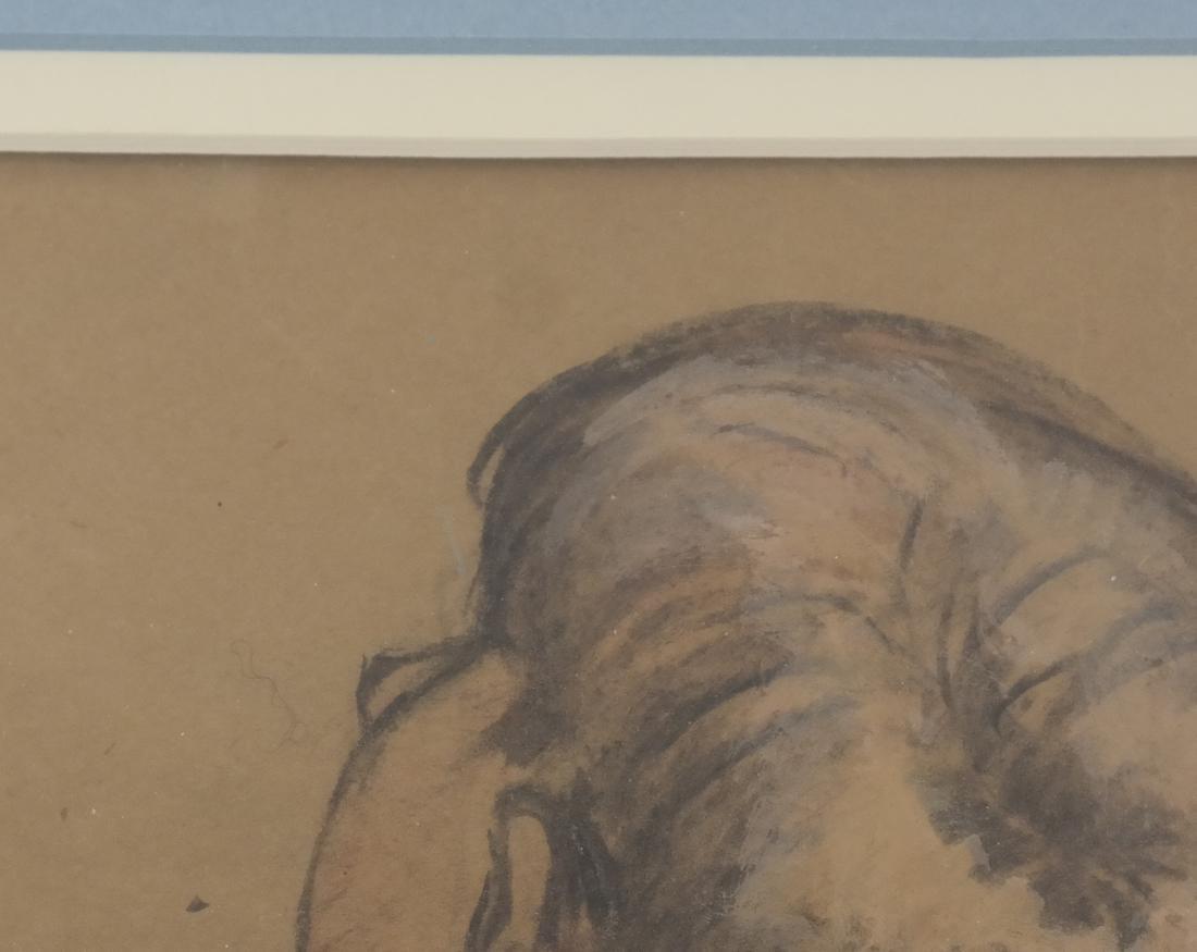 "Lionel Reiss ""Reclining Boy"" Drawing - 4"