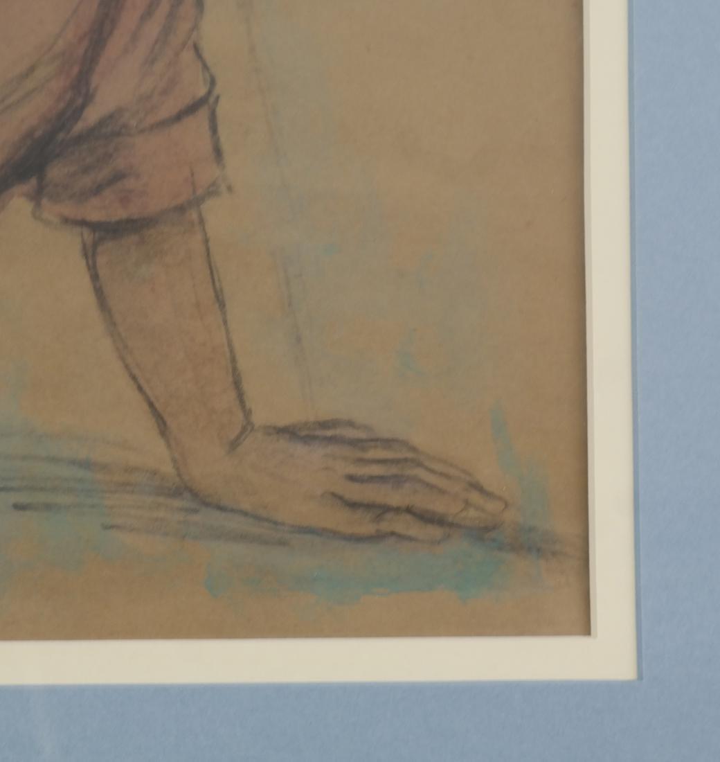 "Lionel Reiss ""Reclining Boy"" Drawing - 5"