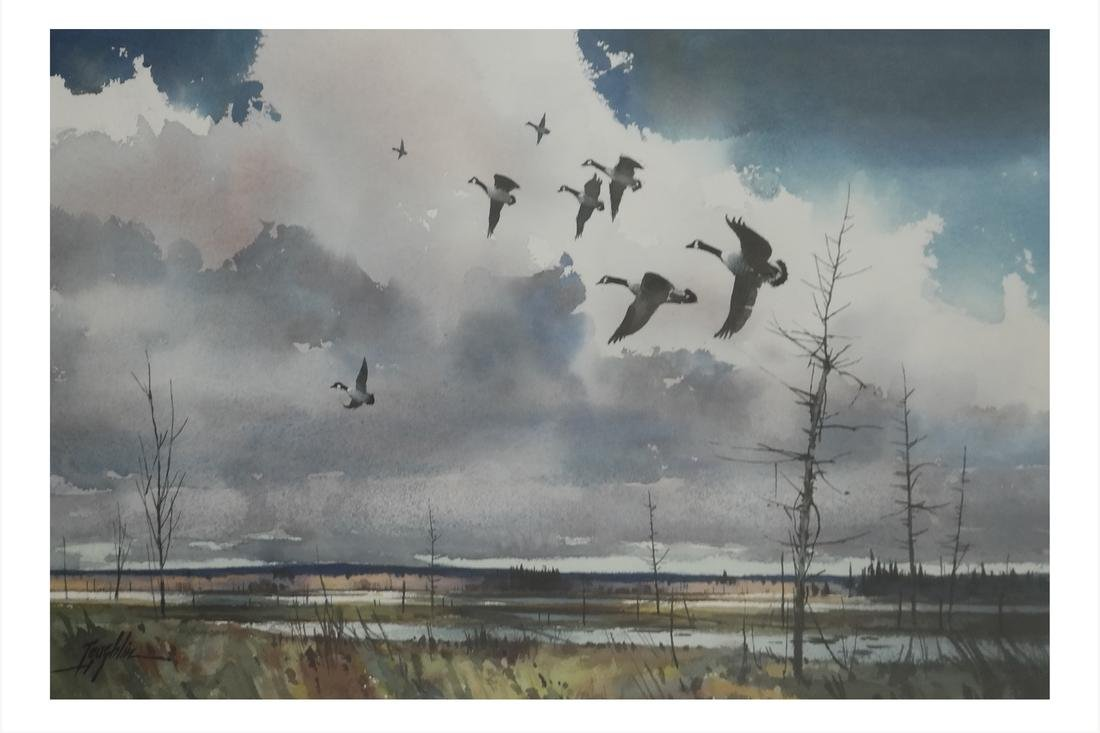 T. Loughlin, Geese - Watercolor
