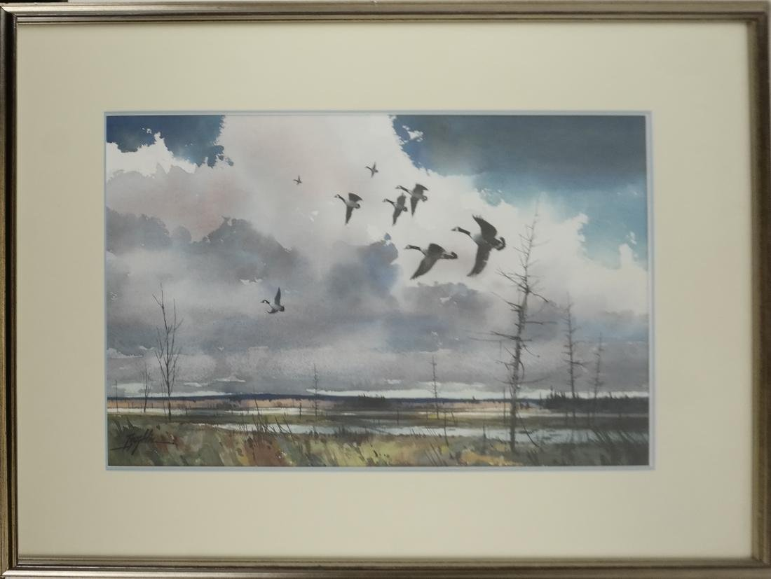 T. Loughlin, Geese - Watercolor - 2