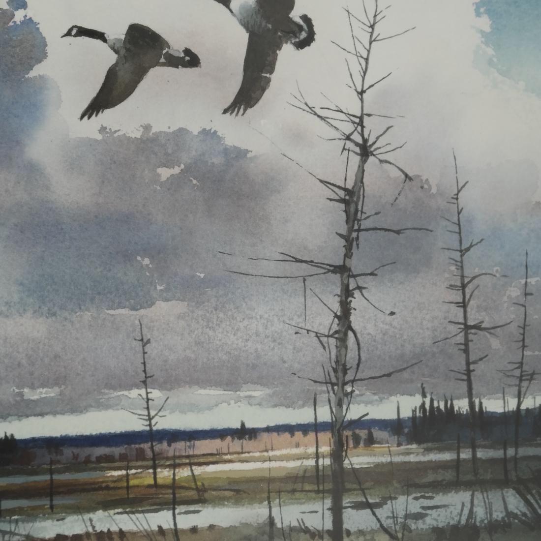 T. Loughlin, Geese - Watercolor - 4
