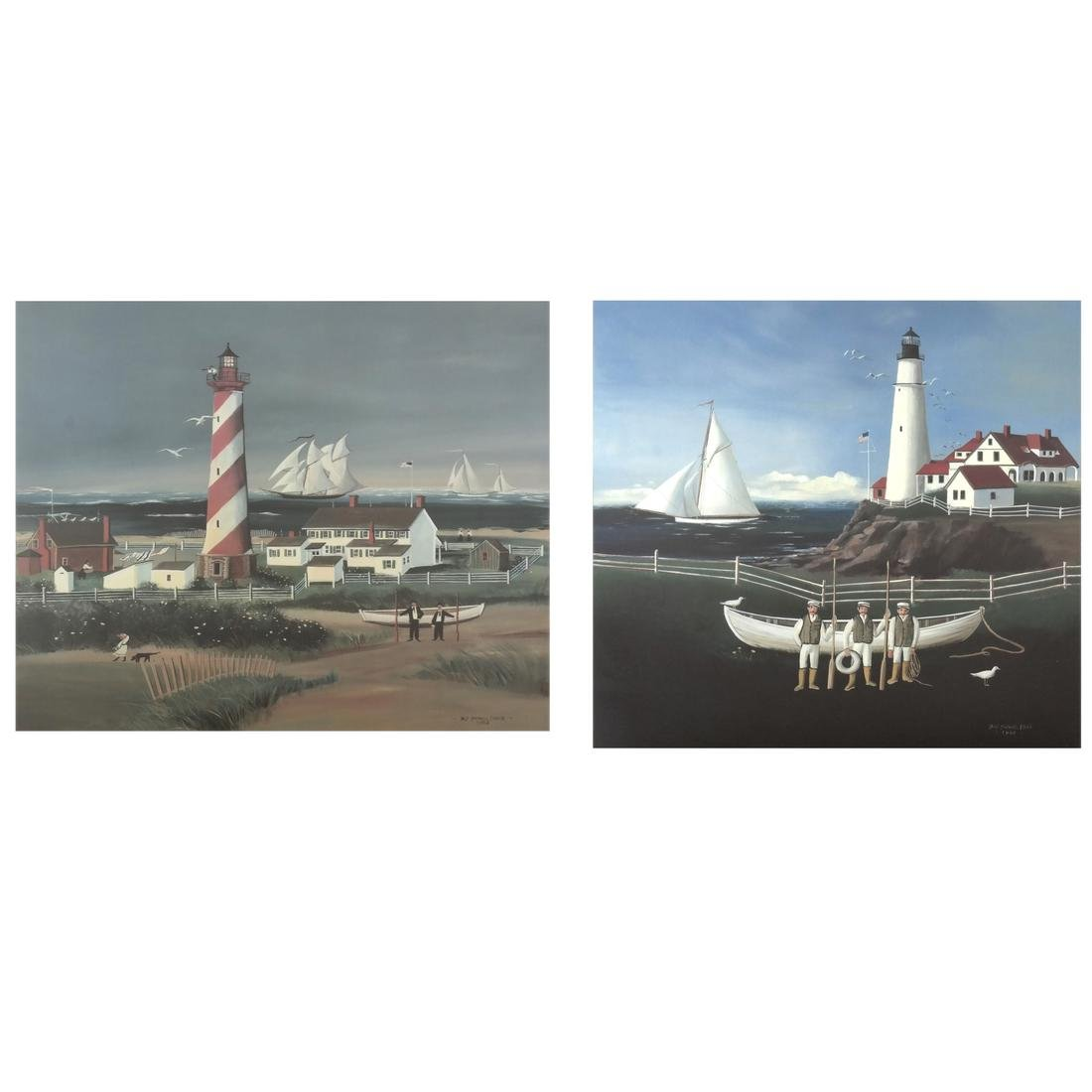Sally Caldwell Fisher - Two Lighthouse Prints