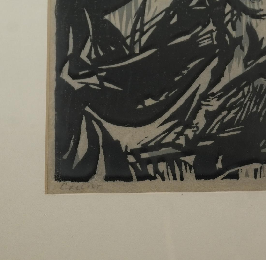 "Jules, ""Cellist"" - Woodcut - 5"