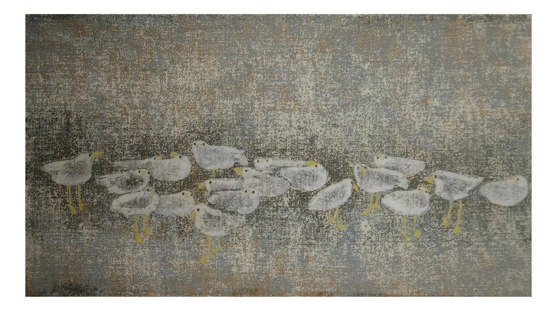 Gathered Plovers - Limited Lithograph