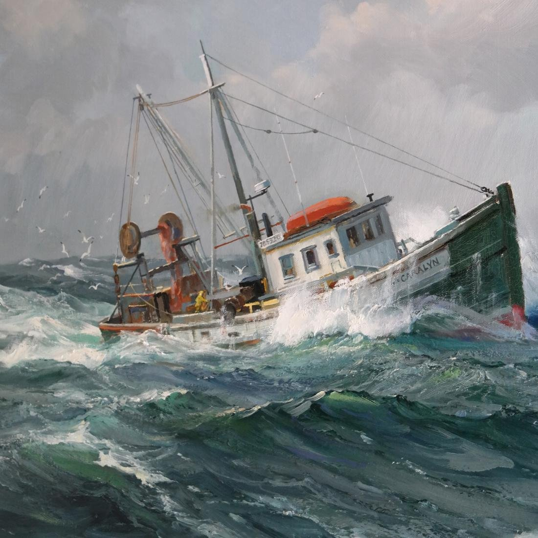 "Charles Vickery, ""Winter Seas"" - Oil on Canvas - 3"