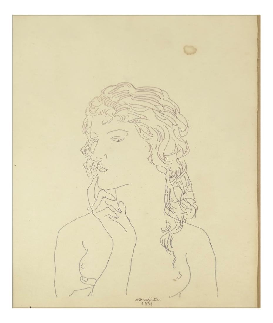 Leonard Tsuguharu Foujita, Pen and Ink