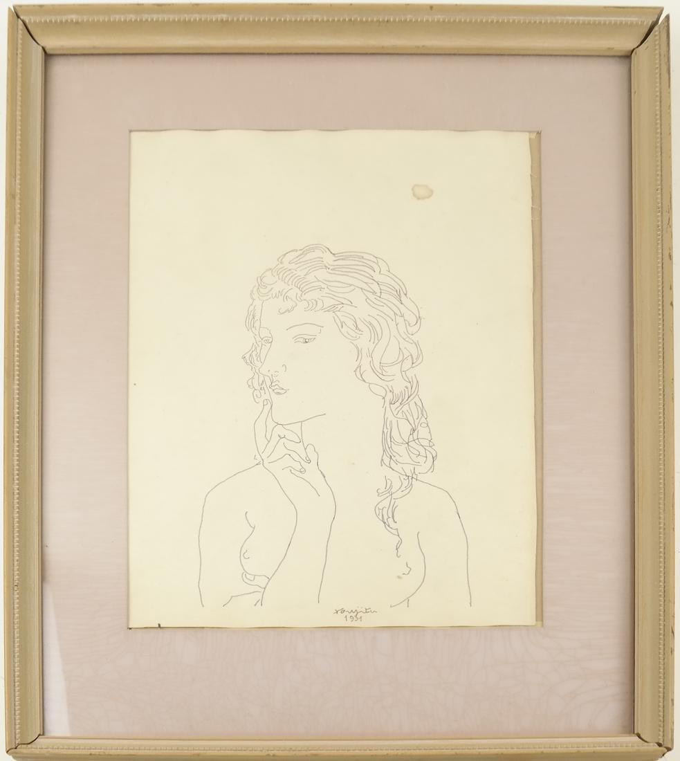 Leonard Tsuguharu Foujita, Pen and Ink - 2
