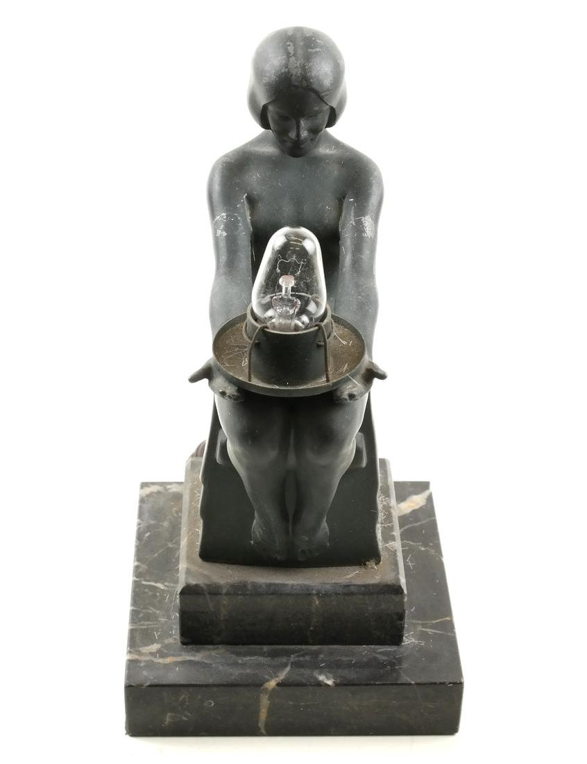 Max Le Verrier, Metal Figural Lamp