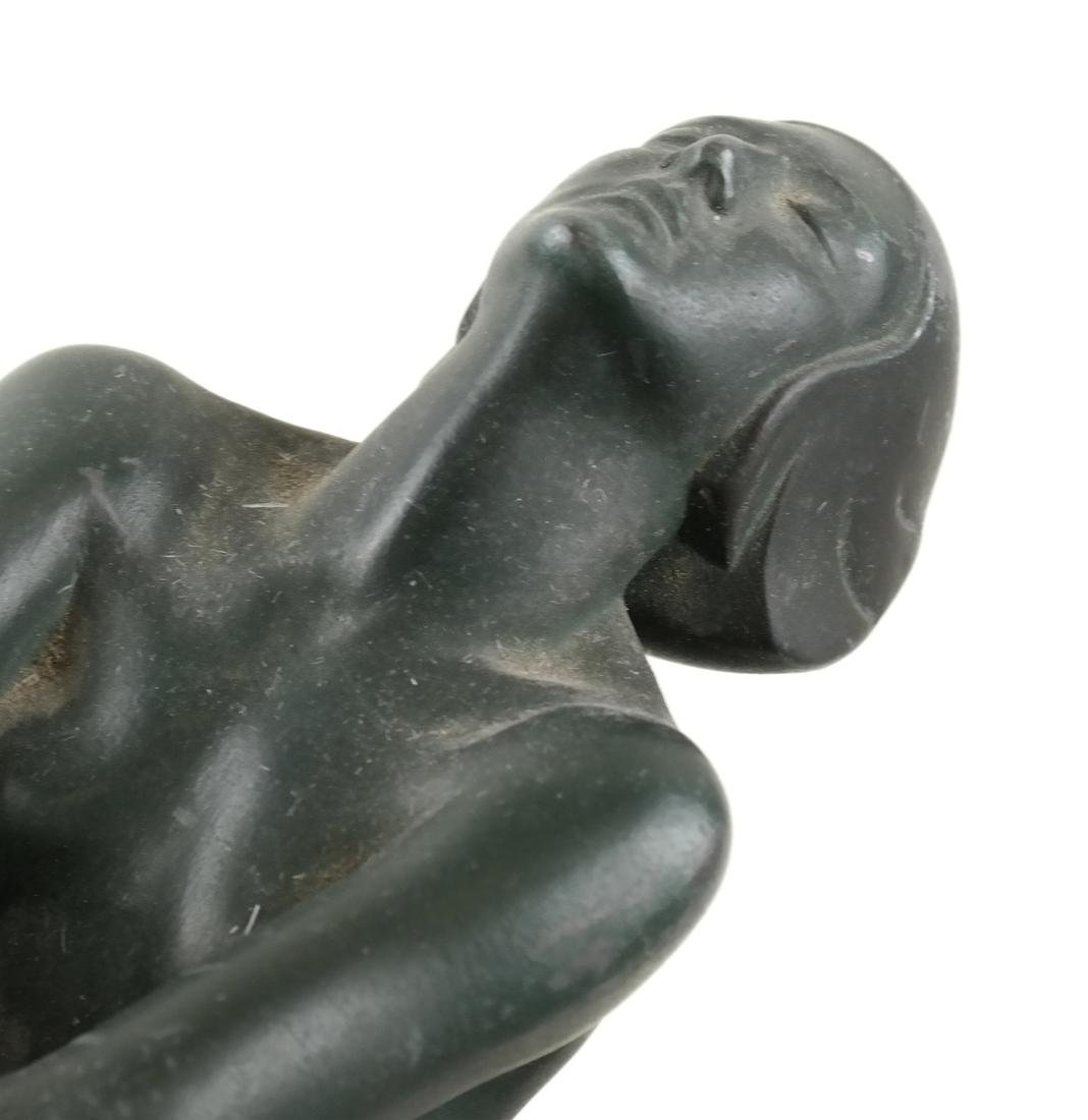 Max Le Verrier, Metal Female Nude Lamp - 2