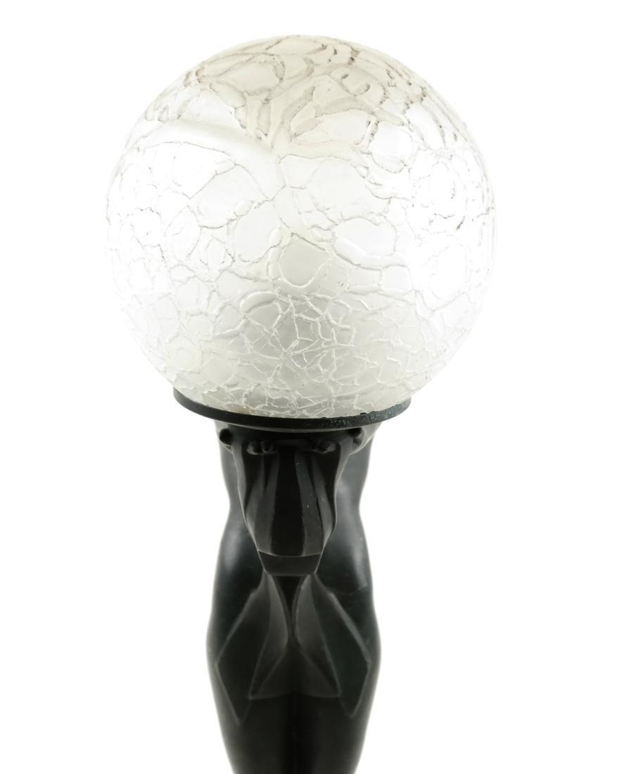 Max Le Verrier, Metal Female Nude Lamp - 6