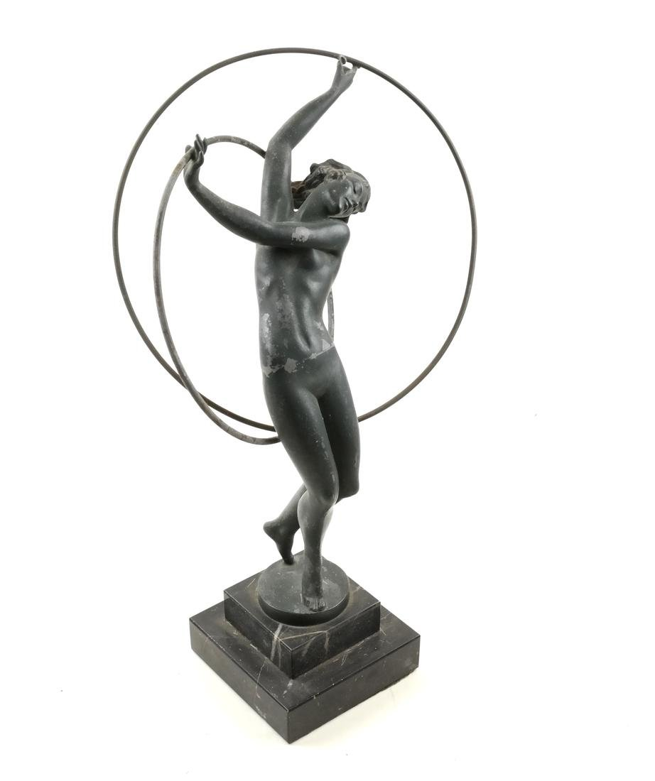 Attributed to Max Le Verrier - Female Nude Hoop Dancer