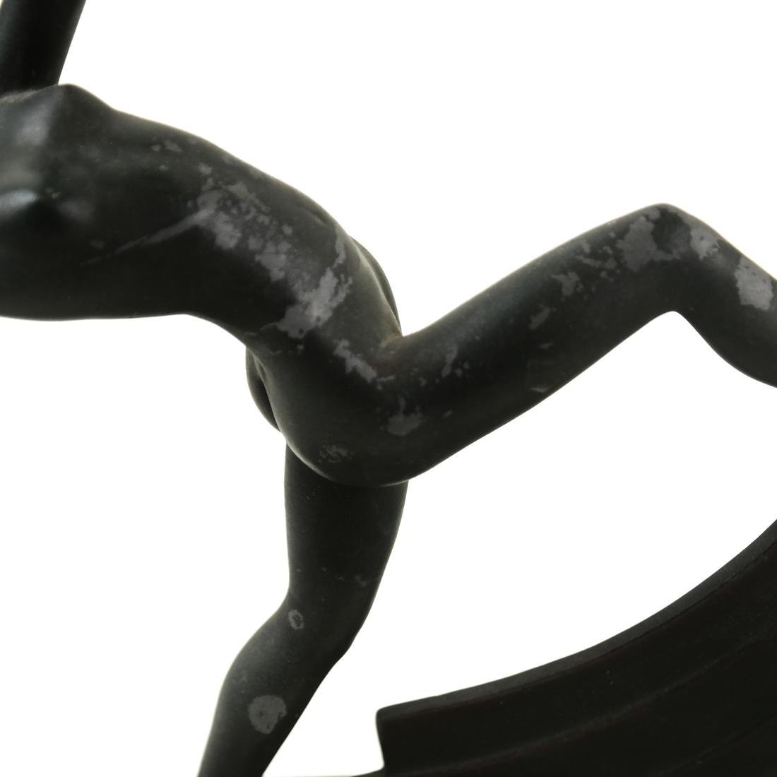 Janle (French, 20th c.) - Art Deco, Metal Scarf Dancer - 5