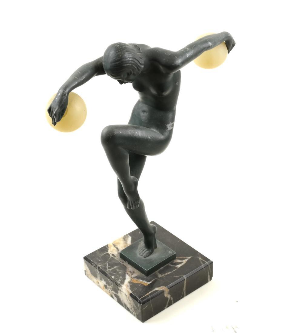 """Denis - Art Deco Figure """"Danseuse aux Boules"""""""