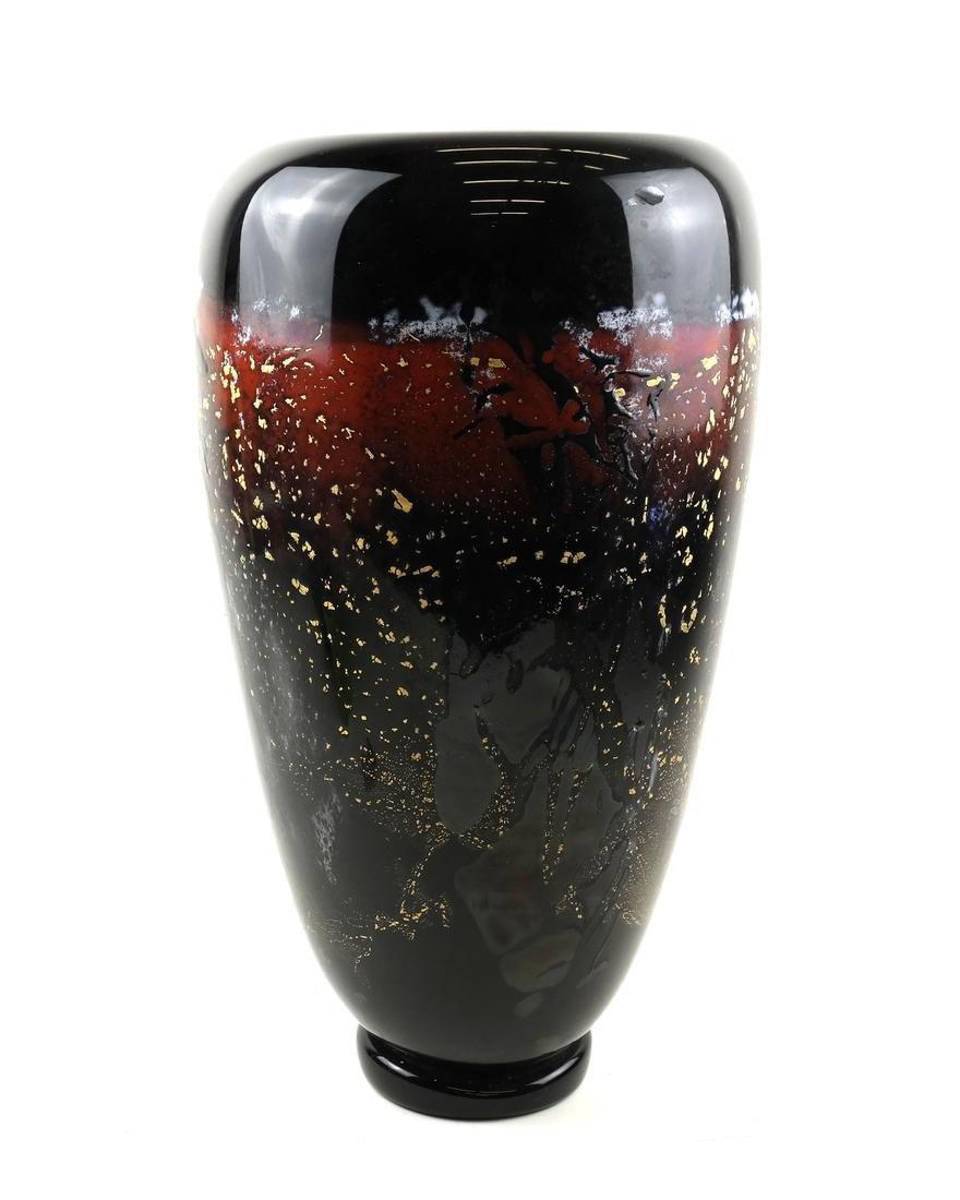 Michael Nouret American Studio Art Glass Vase