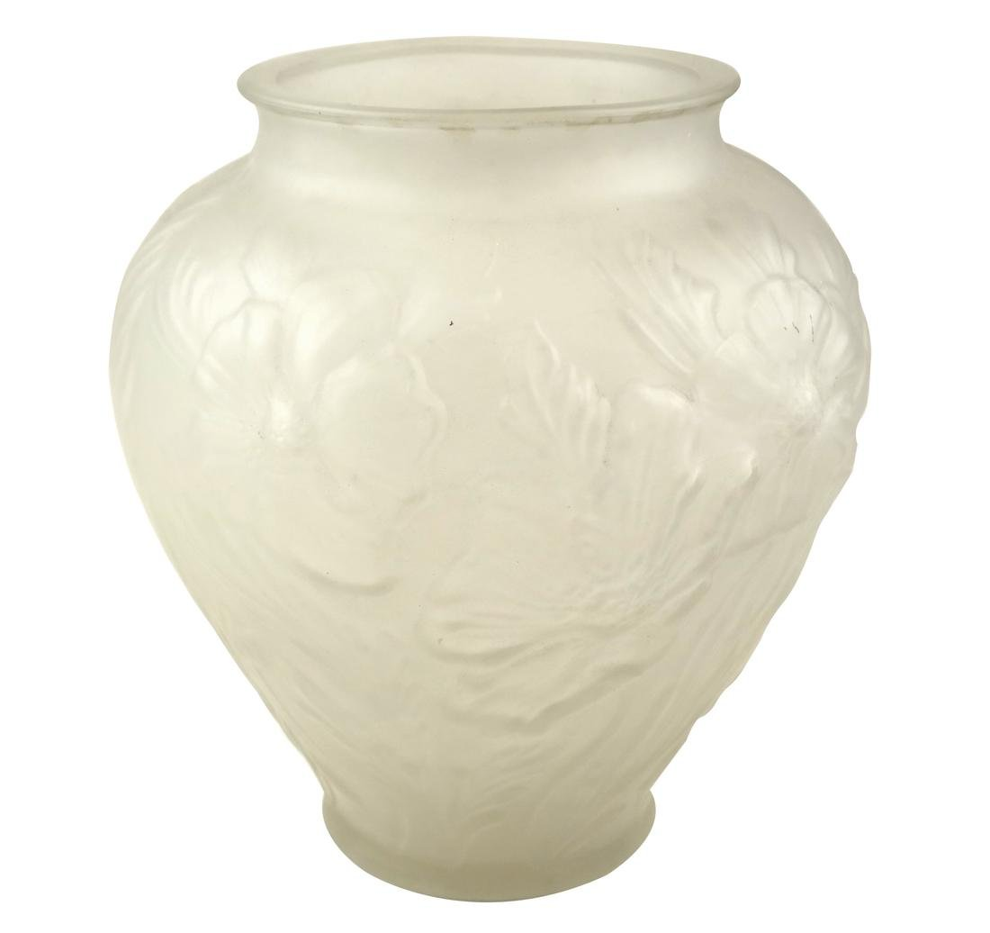 Style of Rene Lalique Mold-Blown Vase