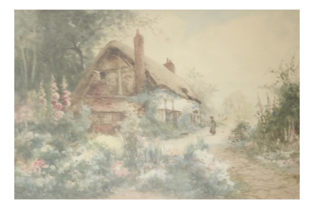 Jos. Hughes Clayton, Figural Country Scene - Watercolor