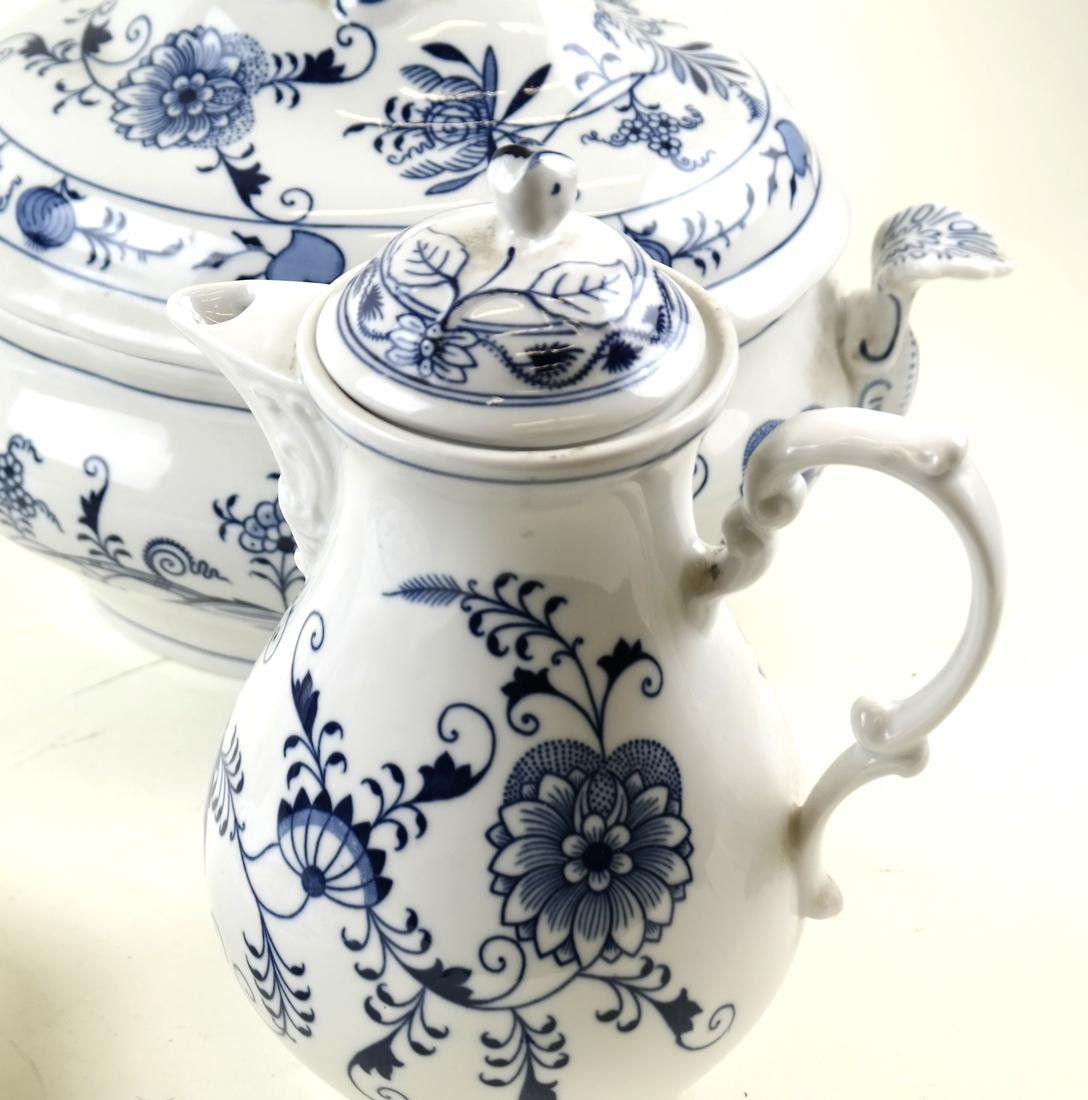 Four Pieces of Blue and White Dinnerware - 4